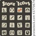 stone, icon, creative 43770674