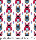 cute, owl, pattern 43770717