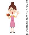 一個年輕成年女性 矢量 皮夾 43770789