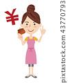 年輕的主婦形象 43770793