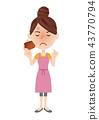 年輕的主婦形象 43770794