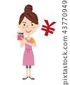 年輕的主婦形象 43770949