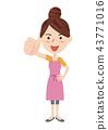 一個年輕成年女性 主婦 家庭主婦 43771016