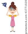 年輕的主婦形象 43771020