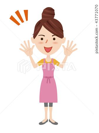Young housewife image 43771070