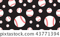 baseball Seamless pattern vector tennis ball tile 43771394