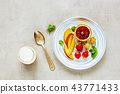 Healthy breakfast plate 43771433