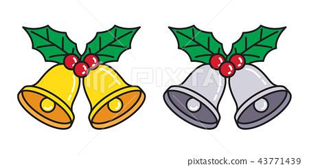 Christmas Bell vector icon Santa Claus logo  43771439