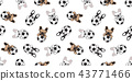 Dog soccer seamless pattern french bulldog vector  43771466