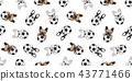 Dog soccer seamless pattern french bulldog vector  43771466