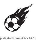 soccer ball vector football logo icon fire symbol  43771473