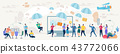 Social Network and Teamwork Vector Concept. 43772066