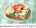 식빵, 샐러드, 빵 43773855