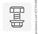 bolt screw icon 43774198