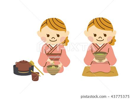 A woman teaing tea 43775375