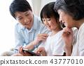 가족 삼대 태블릿 친자 43777010