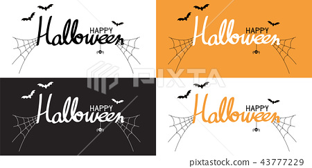 Happy halloween lettering and calligraphy 43777229