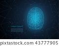 Polygonal brain with shining light 43777905