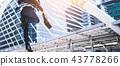 Carear Jumping running business man 43778266