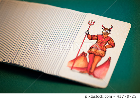 Pack of pictorial Tarot cards with the Devil 43778725