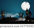 Castle Halloween Banner background. 43779393