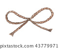 the bow, knot of the linen rope. Twine. 43779971