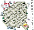 벡터, 미로, 퍼즐 43780780