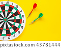 Dart arrow on target dartboard ,Business success 43781444