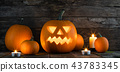 halloween, pumpkin, candle 43783345