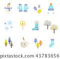 겨울 아이콘 일러스트 세트 43783656