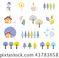 winter, wood, icon 43783658