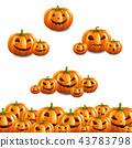Pumpkin Border Set White Background 43783798