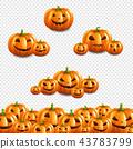Pumpkin Border Set Transparent Background 43783799