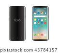 Modern smartphone mockup 43784157