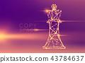 Chess Queen wireframe polygon futuristic bokeh 43784637