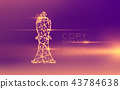 Chess Bishop wireframe polygon futuristic bokeh 43784638