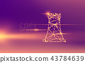 Chess Rook wireframe polygon futuristic bokeh 43784639
