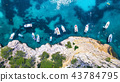 Yachts at the sea in France. Aerial view at boats 43784795