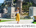 Tourist visiting Golubac fortress on in Serbia 43785401