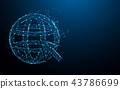 Internet icon form lines and particle style design 43786699