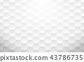 Abstract white geometric hexagon background 43786735