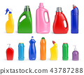 Set of detergent bottles and containers 43787288
