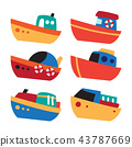 boat vector collection design 43787669