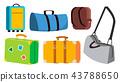 Travel Bag Set Vector. Classic, Retro, Modern, Vintage. Voyage, Summer Trip Icon. Tourism Suitcase 43788650
