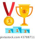 award trophy vector 43788711