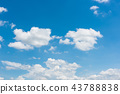 Beautiful cirrus clouds against the blue sky 43788838