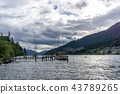 lake wakatipu and a small dock 43789265