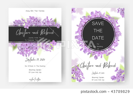 Save The Date Card Wedding Invitation Stock