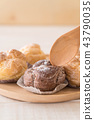 cream puff on plate 43790035
