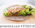 wrap salad roll with tuna corn salad 43790218
